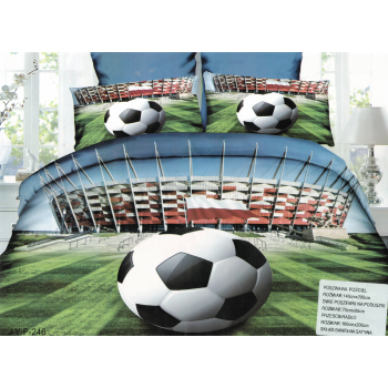 Pościel piłka na tle stadionu 3D 140x200