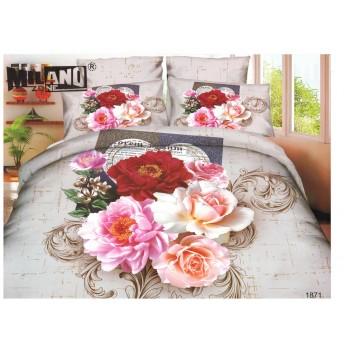 Pościel Kolorowa kwiaty 2 3D 3 160x200