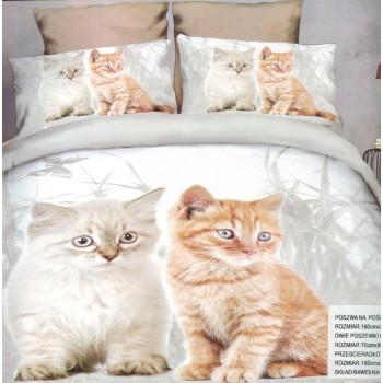Pościel Koty 3D 4 160x200