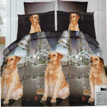 Pościel Pies 3D 160x200 93