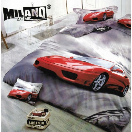 Pościel Czerwone Auto 3D 160x200 72