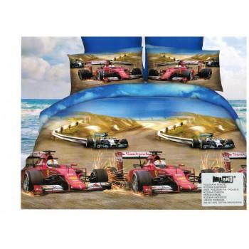Pościel Wyścigi 3D 140x200 115